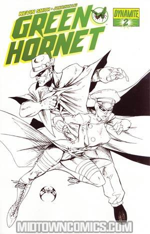 Kevin Smiths Green Hornet #2 Cover H Incentive Joe Benitez Black & White & Green Cover