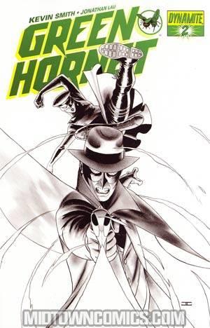 Kevin Smiths Green Hornet #2 Cover G Incentive John Cassaday Black & White & Green Cover