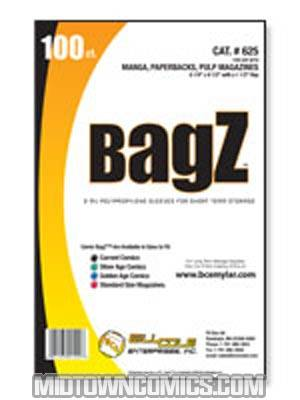 Bill Cole BAGZ DVD and Manga Bags 100-Count