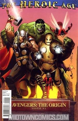 Avengers The Origin #2 Incentive Salvador Larroca Heroic Age Variant Cover