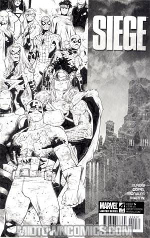 Siege (Marvel) #4 Cover C Incentive Olivier Coipel Sketch Cover