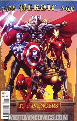 Avengers Vol 4 #1 Cover C Incentive Greg Land Heroic Age Variant Cover (Heroic Age Tie-In)