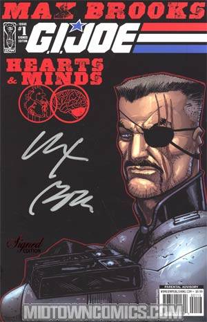 GI Joe Hearts And Minds #1 Signed Edition By Max Brooks