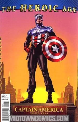 Captain America Vol 5 #606 Cover B Incentive Butch Guice Heroic Age Variant Cover (Heroic Age Tie-In)