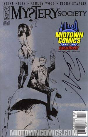 Mystery Society #1 Exclusive Midtown Comics Fiona Staples Variant Cover Signed By Steve Niles