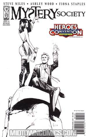 Mystery Society #1 Heroes Convention Charlotte Fiona Staples Variant Cover