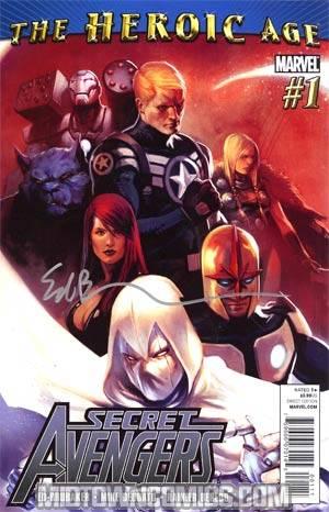 Secret Avengers #1 Regular Marko Djurdjevic Cover (Heroic Age Tie-In) Signed By Ed Brubaker