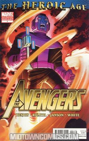 Avengers Vol 4 #1 Cover K 2nd Ptg John Romita Jr Variant Cover (Heroic Age Tie-In)