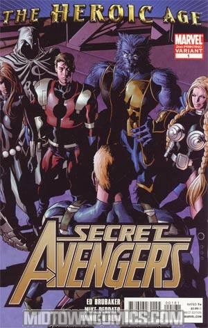 Secret Avengers #1 2nd Ptg Mike Deodato Jr Variant Cover (Heroic Age Tie-In)