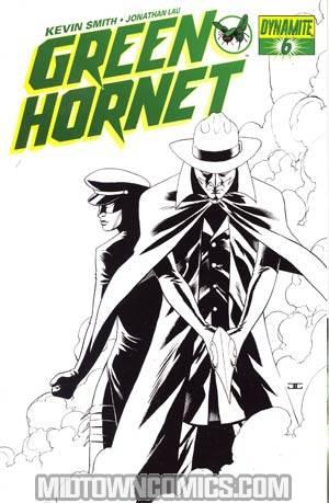 Kevin Smiths Green Hornet #6 Cover E Incentive John Cassaday Black & White & Green Cover