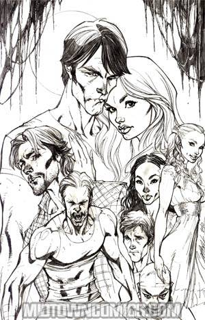 True Blood #1 Incentive J Scott Campbell Virgin Sketch Cover