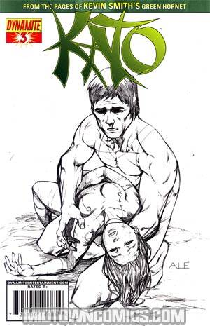 Kevin Smiths Kato #3 Cover D Incentive Ale Garza Black & White & Green Cover