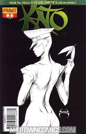 Kevin Smiths Kato #3 Cover E Incentive Joe Benitez Black & White & Green Cover