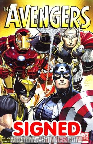 Avengers Vol 4 #1 Cover I Incentive Retailer Edition John Romita Jr Variant Cover Signed By Brian Bendis (Heroic Age Tie-In)