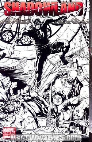 Shadowland #1 MRRC Billy Tan Sketch Wraparound Cover
