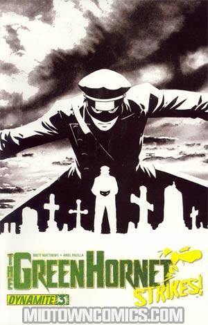 Green Hornet Strikes #3 Cover B Incentive John Cassaday Black & White & Green Cover