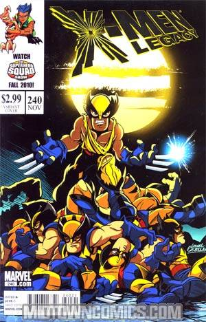 X-Men Legacy #240 Cover B Incentive Super Hero Squad Variant Cover