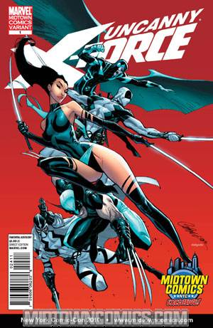 Uncanny X-Force #1 J Scott Campbell Midtown Comics Exclusive Variant Cover