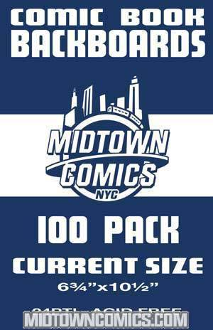 Current Size Comic Book Boards 100-Pack (Acid-Free)