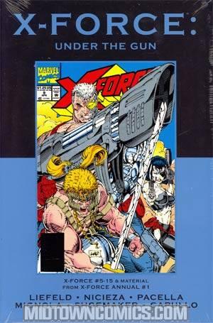X-Force Under The Gun HC Premiere Edition Direct Market Cover