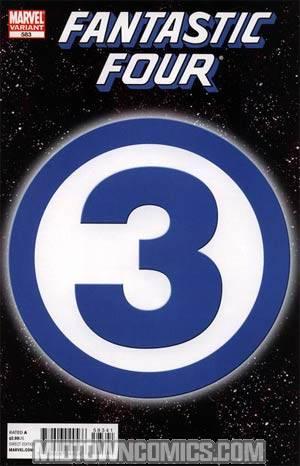 Fantastic Four Vol 3 #583 Cover D Incentive 3 Logo Variant Cover