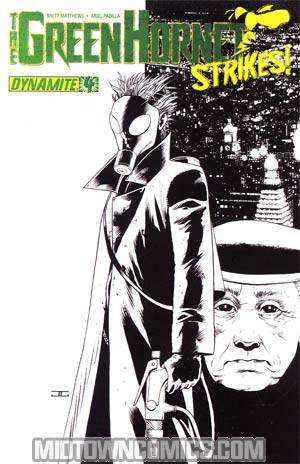 Green Hornet Strikes #4 Cover B Incentive John Cassaday Black & White & Green Cover