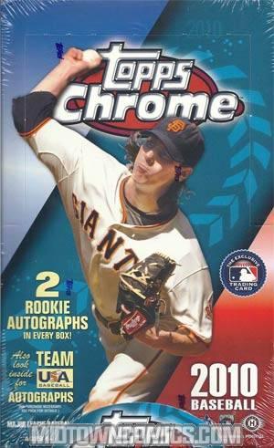 Topps 2010 Chrome MLB Trading Cards Box