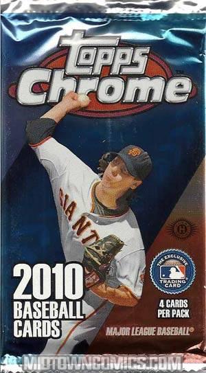 Topps 2010 Chrome MLB Trading Cards Pack
