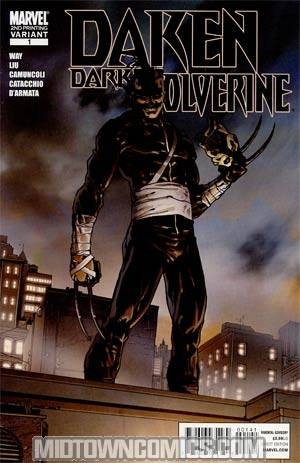 Daken Dark Wolverine #1 2nd Ptg Giuseppe Camuncoli Variant Cover (Wolverine Goes To Hell Tie-In)