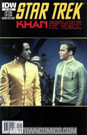 Star Trek Khan Ruling In Hell #2 Incentive Khan Photo Variant Cover