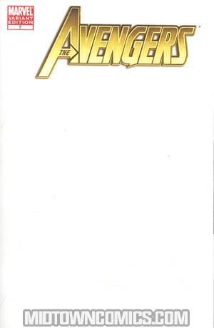 Avengers Vol 4 #7 Cover B Variant Blank Cover