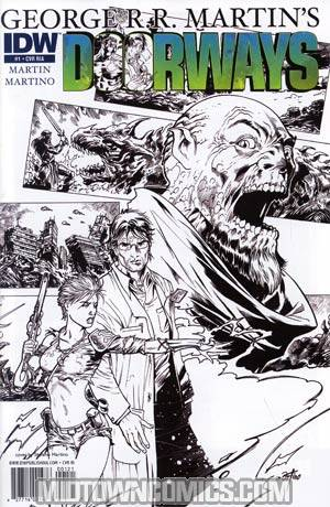 George RR Martins Doorways #1 Incentive Stefano Martino Sketch Cover