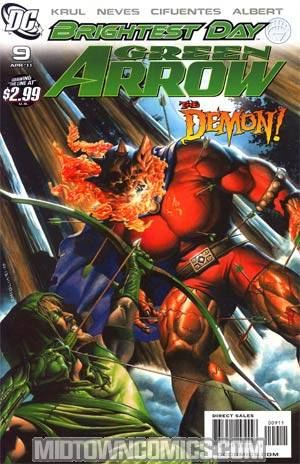 Green Arrow Vol 5 #9 Regular Rodolfo Migliari Cover (Brightest Day Tie-In)
