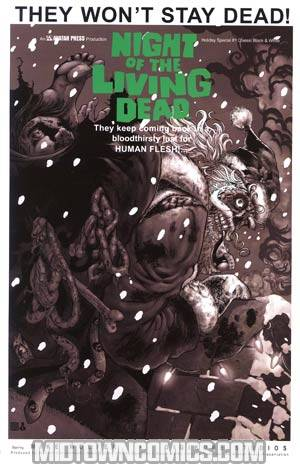Night Of The Living Dead Holiday Special #1 Incentive Classic Black & White Edition