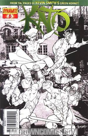 Kevin Smiths Kato #6 Cover C Incentive Ale Garza Black & White & Green Cover