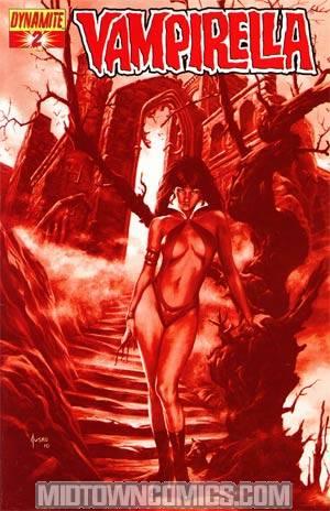 Vampirella Vol 4 #2 Incentive Joe Jusko Blood Red Cover