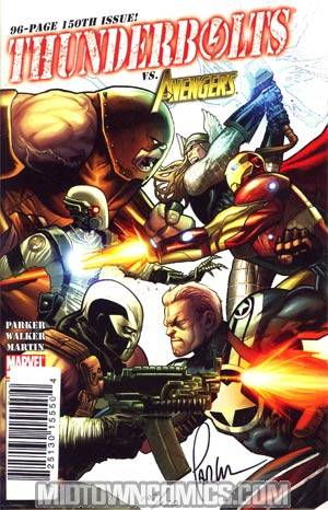 Thunderbolts #150 DF Signed By Jeff Parker