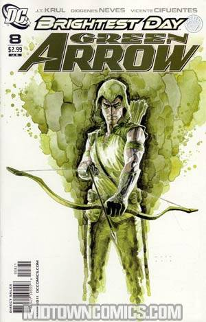 Green Arrow Vol 5 #8 Incentive David Mack Variant Cover (Brightest Day Tie-In)