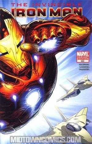 Invincible Iron Man #500 Cover E Incentive Joe Quesada Variant Cover