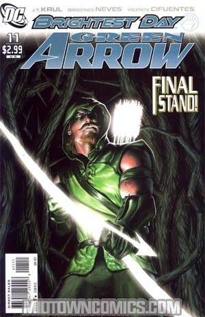 Green Arrow Vol 5 #11 Regular Rodolfo Migliari Cover (Brightest Day Tie-In)