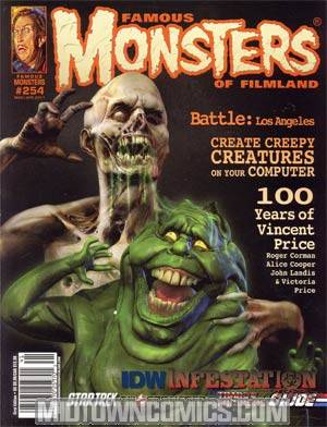 DO NOT USE (DUPLICATE LISTING) Famous Monsters Of Filmland #254 Mar/Apr 2011 Newsstand Edition Bryan Wynia Cover