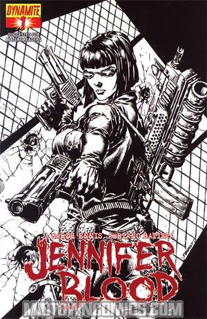 Garth Ennis Jennifer Blood #1 Incentive Johnny Desjardins Sketch Cover