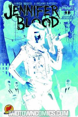 Garth Ennis Jennifer Blood #1 Incentive Jonathan Lau Negative Art Cover