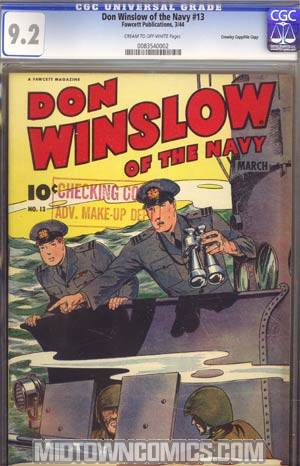 Don Winslow Of The Navy #13 CGC 9.2 Crowley Pedigree/File Copy