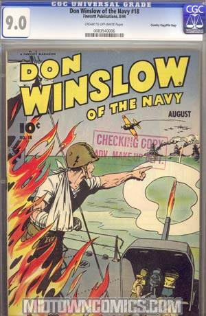 Don Winslow Of The Navy #18 CGC 9.0 Crowley Pedigree/File Copy