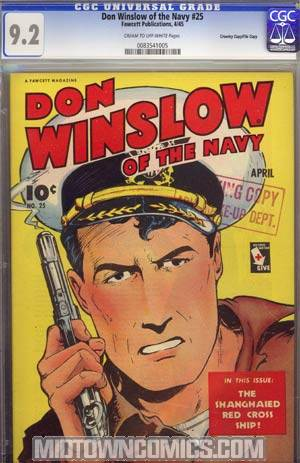 Don Winslow Of The Navy #25 CGC 9.2 Crowley Pedigree/File Copy