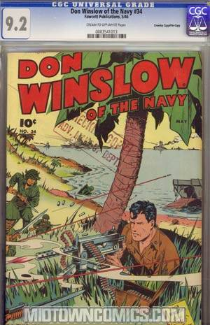 Don Winslow Of The Navy #34 CGC 9.2 Crowley Pedigree/File Copy
