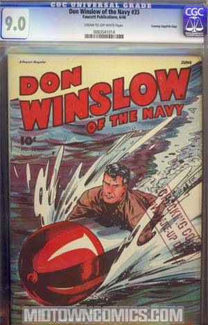 Don Winslow Of The Navy #35 CGC 9.0 Crowley Pedigree/File Copy