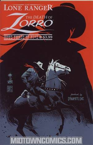 Lone Ranger Zorro Death Of Zorro #3 Cover A Regular Francesco Francavilla Cover
