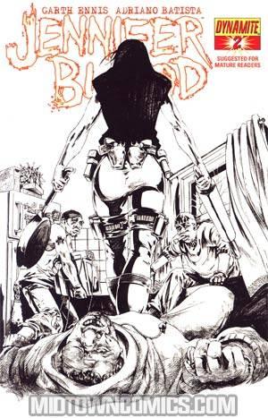 Garth Ennis Jennifer Blood #2 Incentive Jonathan Lau Sketch Cover